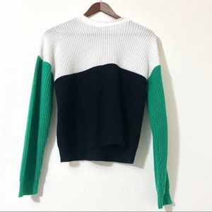 Say What? Color Block Knit Sweater